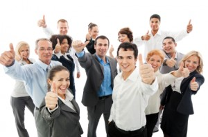 Successful Business People Showing Thumbs Up. Wayne O'Neill and Associates
