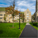 College campus supported by higher education collaboration